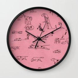 Ugly Hounds-Sketchbook Wall Clock