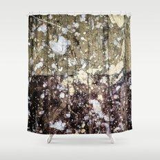 Rough Yin/Yang Planks Shower Curtain