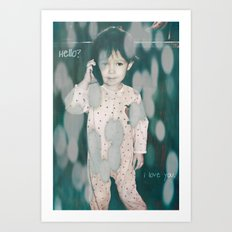 hello?  i love you. Art Print