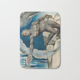 William Blake - Antaeus setting down Dante and Virgil in the Last Circle of Hell Bath Mat