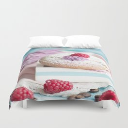 Pink pastel colored muffin stilllfeben Duvet Cover