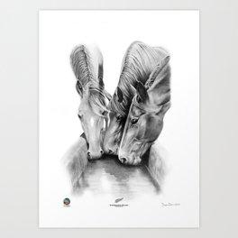 Wiri Thoroughbreds. Art Print