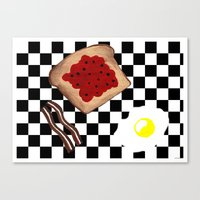breakfast Canvas Prints featuring Breakfast by Sartoris ART