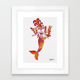 Fiery Mermaid Framed Art Print