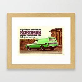Holden Sandman Adventure Framed Art Print