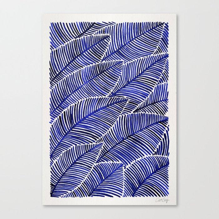Tropical Navy Canvas Print