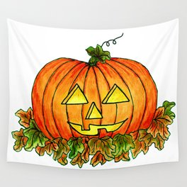 Happy Halloween Pumpkin Wall Tapestry
