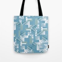 data Tote Bags featuring Data I by dominiquelandau