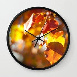 Embers IV Wall Clock