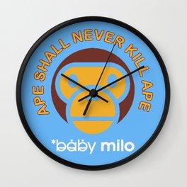 Baby Milo Ape Blue Wall Clock