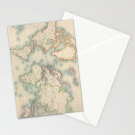Vintage Map of The World (1911) Stationery Cards