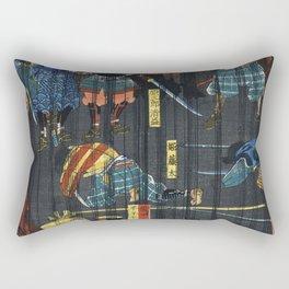 Soga no Adauchi by Utagawa Yoshikazu (1848-1863) a traditional Japanese ukiyo-e style diptych of a s Rectangular Pillow
