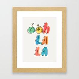 Ohh la la Framed Art Print