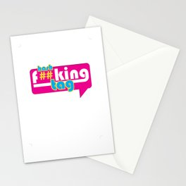 Hash F##king Tag Stationery Cards