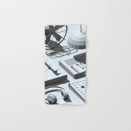Low Poly Studio Objects 3D Illustration Grey Hand & Bath Towel