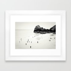 Cornwall beach life Framed Art Print