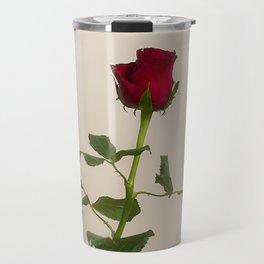 Single red rose Travel Mug