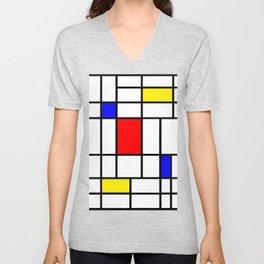Mondrian #63 Unisex V-Neck