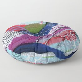 Abstract Landscape Floor Pillow