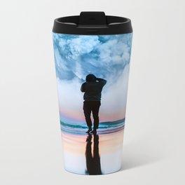 Blue Cloud Metal Travel Mug