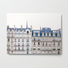 Tres Paris - Travel, Architecture Photography Metal Print