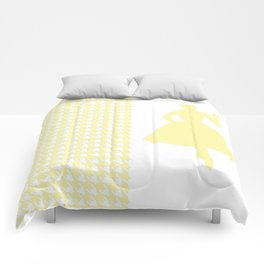Cream Modern Houndstooth w/ Fashion Silhouette Comforters