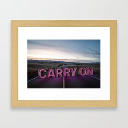 carry on. Framed Art Print