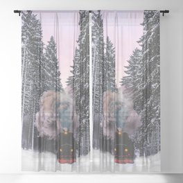 How fast can you pack? Sheer Curtain