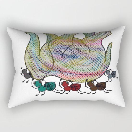 Elephant Vs Ant Rectangular Pillow