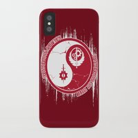 fallout iPhone & iPod Cases featuring Opposing Fallout by Morisato