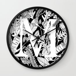 Woodsy M Wall Clock