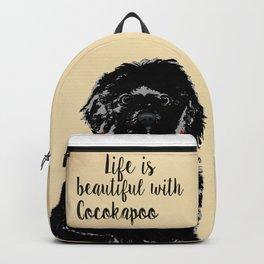 Black Cockapoo Dog Backpack