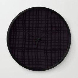 Abstract black lattice pattern digital illustration  Wall Clock