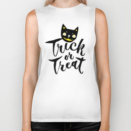 Trick or Treat - Hand Lettering Design Biker Tank