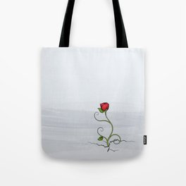 The Rose that Grew from Concrete Tote Bag