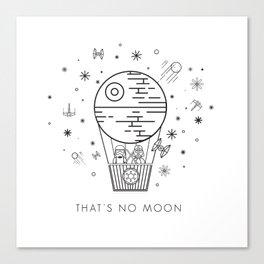 That's No Moon Death Star Hot Air Balloon Storm Tr Canvas Print