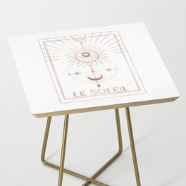 Le Soleil or The Sun Tarot White Edition Side Table