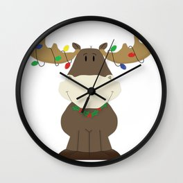 Merry Christmoose! Wall Clock