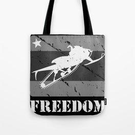 FREEDOM! Snowmobile Tote Bag