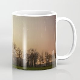 Stars Trails With Trees Coffee Mug