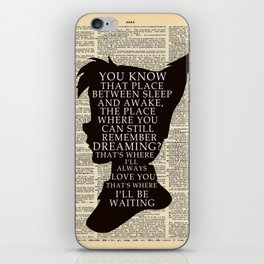 Peter Pan Over Vintage Dictionary Page - That Place iPhone Skin