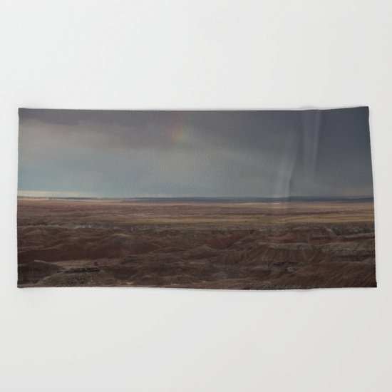 Desert Rainbow Beach Towel
