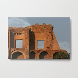 Windows and Clouds Palatine Ruins Rome Metal Print