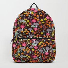 dark toadstools and mushrooms Backpack