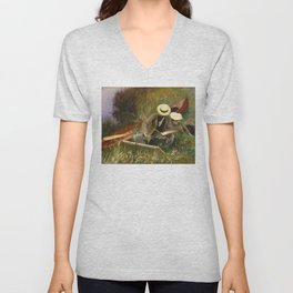 An Out of Doors Study by John Singer Sargent (1889) Unisex V-Neck