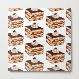 Tiramisu: Food Series Metal Print