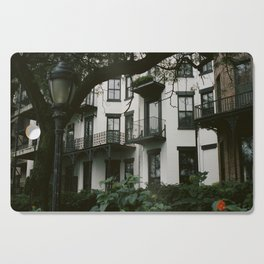 White Brooklyn Building Cutting Board