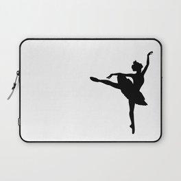 Ballerina silhouette (black) Laptop Sleeve