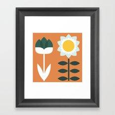 Set Sun Mandarin Framed Art Print