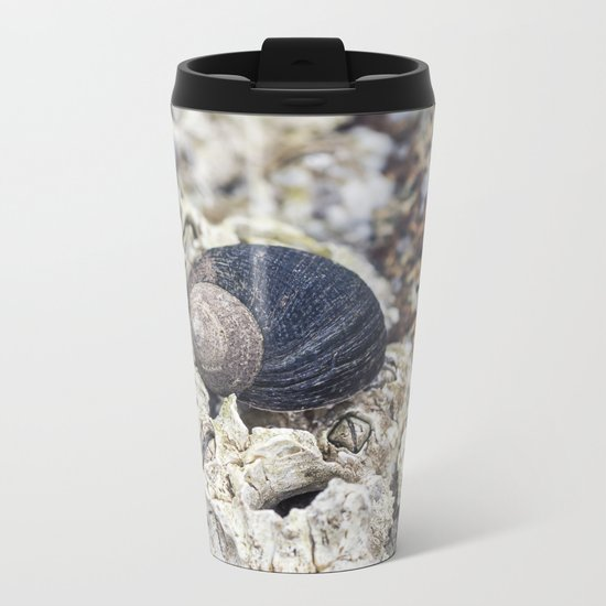 periwinkle close up Metal Travel Mug
